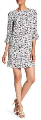 Tahari Print Georgette Shift Dress