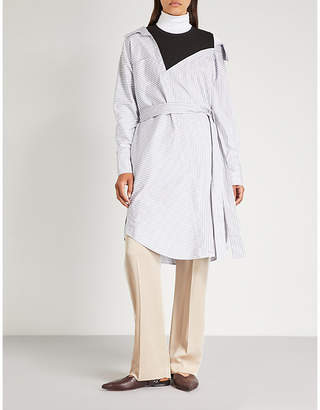 Maje Riava deconstructed cotton shirt dress