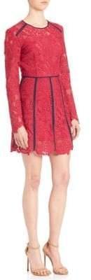 MSGM Lace Contrast-Trim Dress