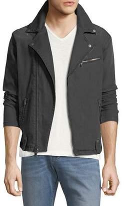 John Varvatos Denim Asymmetric-Zip Moto Jacket
