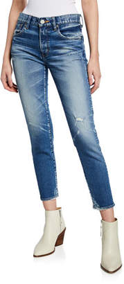Moussy Velma Mid-Rise Cropped Skinny Jeans