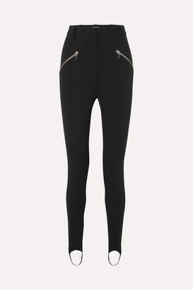 Thierry Mugler Stretch-crepe Skinny Stirrup Pants - Black