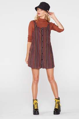 Nasty Gal After Party Vintage Over the Top Cord Pinafore Dress