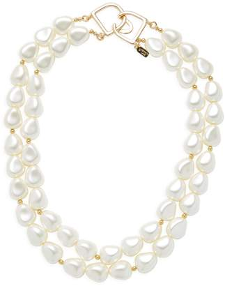 Kenneth Jay Lane Women's Double Row Faux-Pearl Necklace