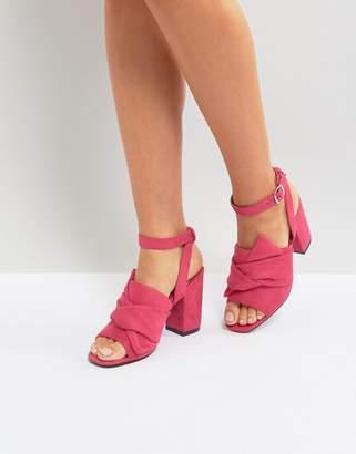 Park Lane Oversized Knot Front Heel Sandals