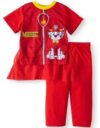 PAW Patrol Short Sleeve Costume Play Pajamas, 2-piece Set (Toddler Boys)