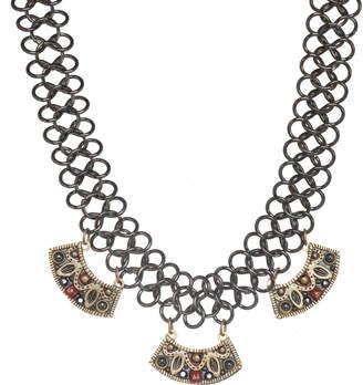 "Michal Golan Jewelry Three Half Moon Necklace ""Canyon"""