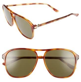 Gucci Retro Web 58mm Sunglasses