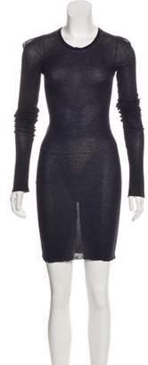 Rick Owens Long Sleeve Knee-Length Dress