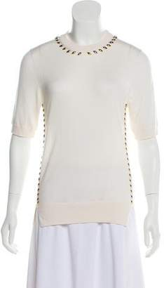 Louis Vuitton Knitted Embellished- Accented Top