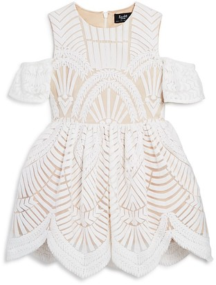 Bardot Junior Girls' Cold Shoulder Deco Lace Dress - Little Kid $129.95 thestylecure.com