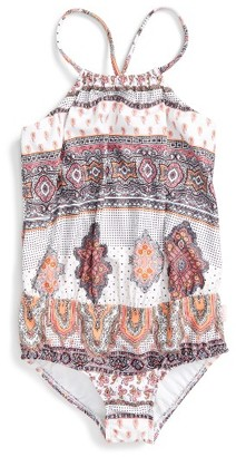 Girl's Seafolly Moroccan Paisley One-Piece Swimsuit $58 thestylecure.com