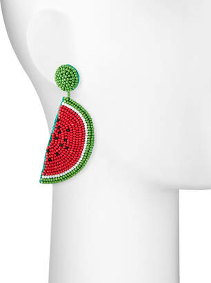 Kenneth Jay Lane Watermelon Seed Bead Earrings