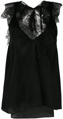 Giacobino lace inserts blouse