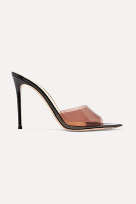 Gianvito Rossi Alise 105 Pvc And Patent-leather Mules - Black