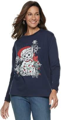 Women's Christmas Graphic Fleece Sweatshirt