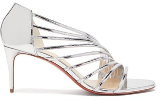 Christian Louboutin Norina 70 Metallic Leather Sandals - Womens - Silver