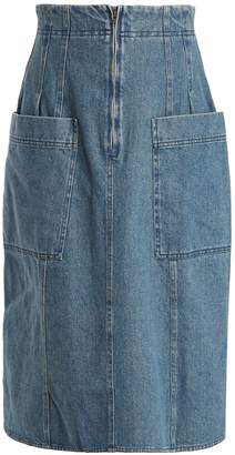 Apiece Apart A-line cotton-denim skirt
