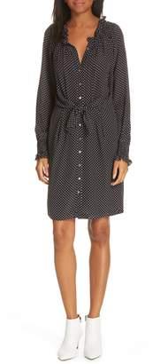 Rebecca Taylor Dot Print Tie Dress