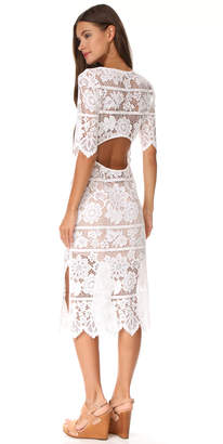 For Love & Lemons Lace Midi Dress with High Slit $241 thestylecure.com