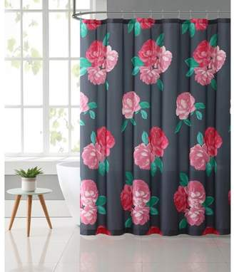 """VCNY Home Charcoal/Rose RoseMary Floral 72"""" x 72"""" Shower Curtain"""