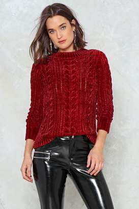 Nasty Gal Live Wire Chenille Jumper