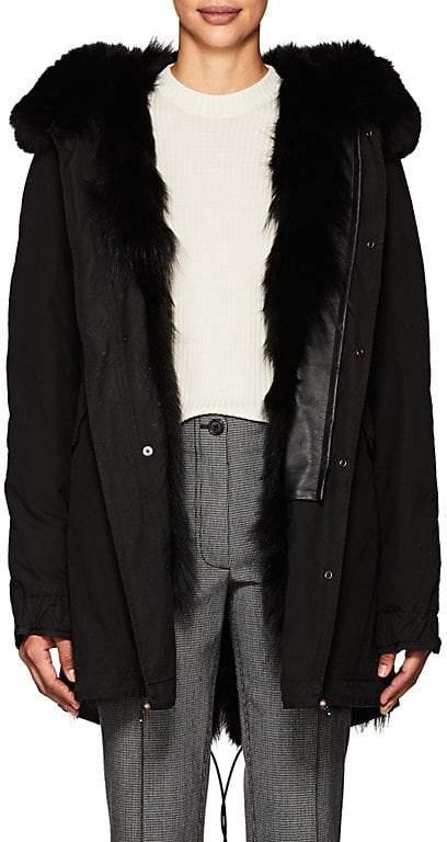 Women's Fur-Trimmed & -Lined Cotton Midi-Parka