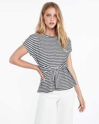 Express Cap Sleeve Tie Waist Top