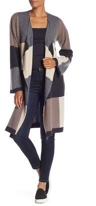 Magaschoni M BY Waterfall Colorblock Cashmere Duster