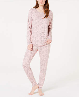 Alfani Printed Knit Pajama Set