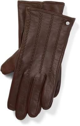 Ralph Lauren Laced Leather Tech Gloves