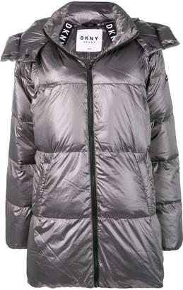 Donna Karan hooded padded coat