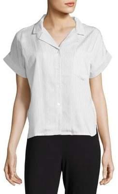 Calvin Klein Striped Button-Down Pajama Top