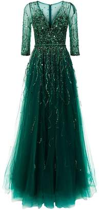 Jovani Embellished Tulle Gown