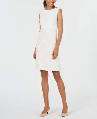 Elie Tahari Lacey Tonal Check Sheath Dress