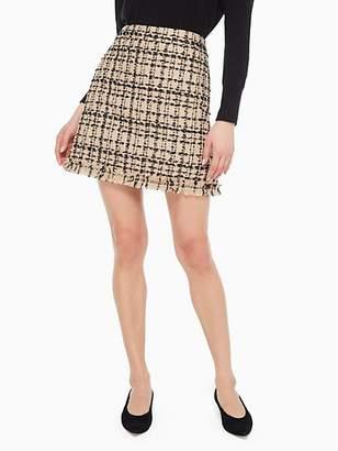 Kate Spade Bi-color Tweed Skirt, Roasted Peanut/Black - Size 0