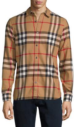 Burberry Plaid Sport Shirt