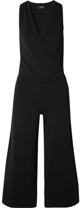 Theory Wrap-effect Stretch-knit Jumpsuit - Black
