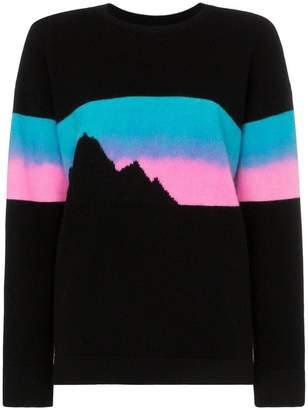 The Elder Statesman Rambler mountain print cashmere jumper