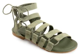 Co Brinley Women's Caged Faux Leather Strappy Gladiator Sandals