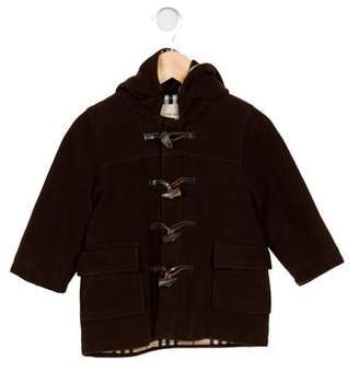 Burberry Boys' Wool Hooded Toggle Coat