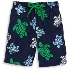 Toddler's, Little Boy's and Boy's Turtle-Print Shorts