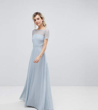 Asos Lace Insert Panelled Maxi Dress