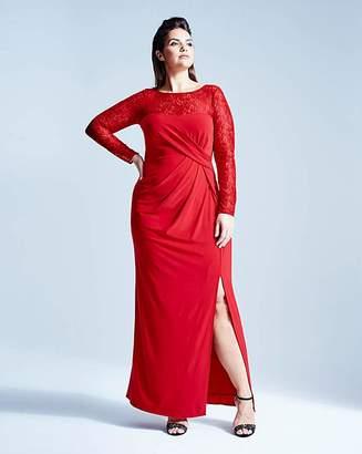f3ff0b75023 Coast Reeva Jersey Lace Maxi Dress
