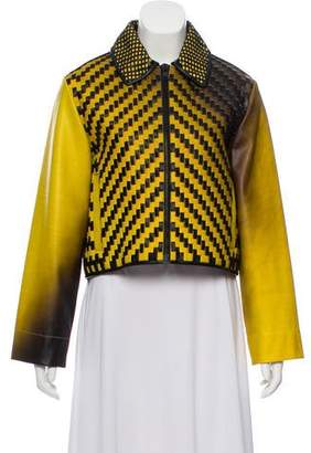 Martina Spetlova Weaved Leather Jacket w/ Tags