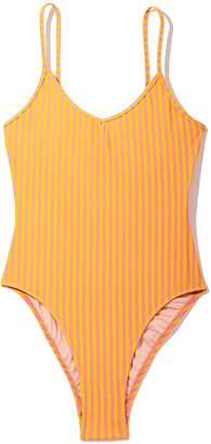 Les Girls Les Boys Stripe Swimsuit in Ice Cream