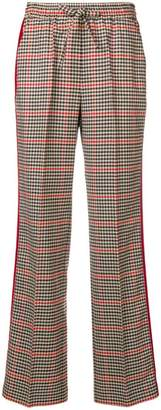 P.A.R.O.S.H. high-waisted checked trousers