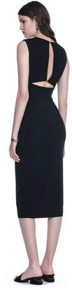 Alexander Wang Modal Spandex Sleeveless Dress With Back Slit Detail