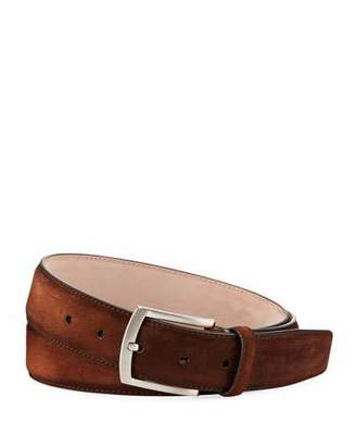 Magnanni Men's Suede Belt, Brown