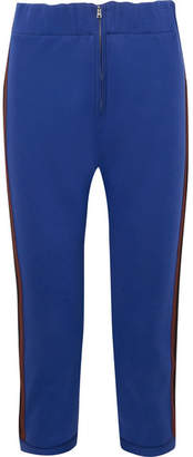 Marni Cropped Striped Cotton-blend Jersey Track Pants - Royal blue